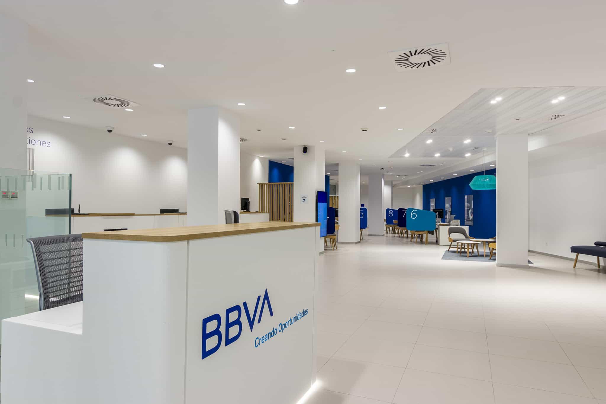 Imagen del equipamiento de entrada en BBVA Blue Branch
