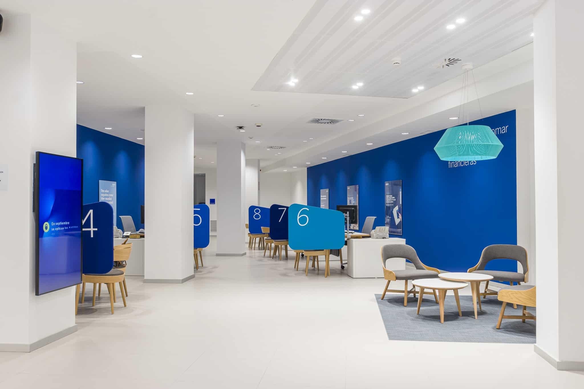 Imagen del equipamiento de sala de esperaen BBVA Blue Branch