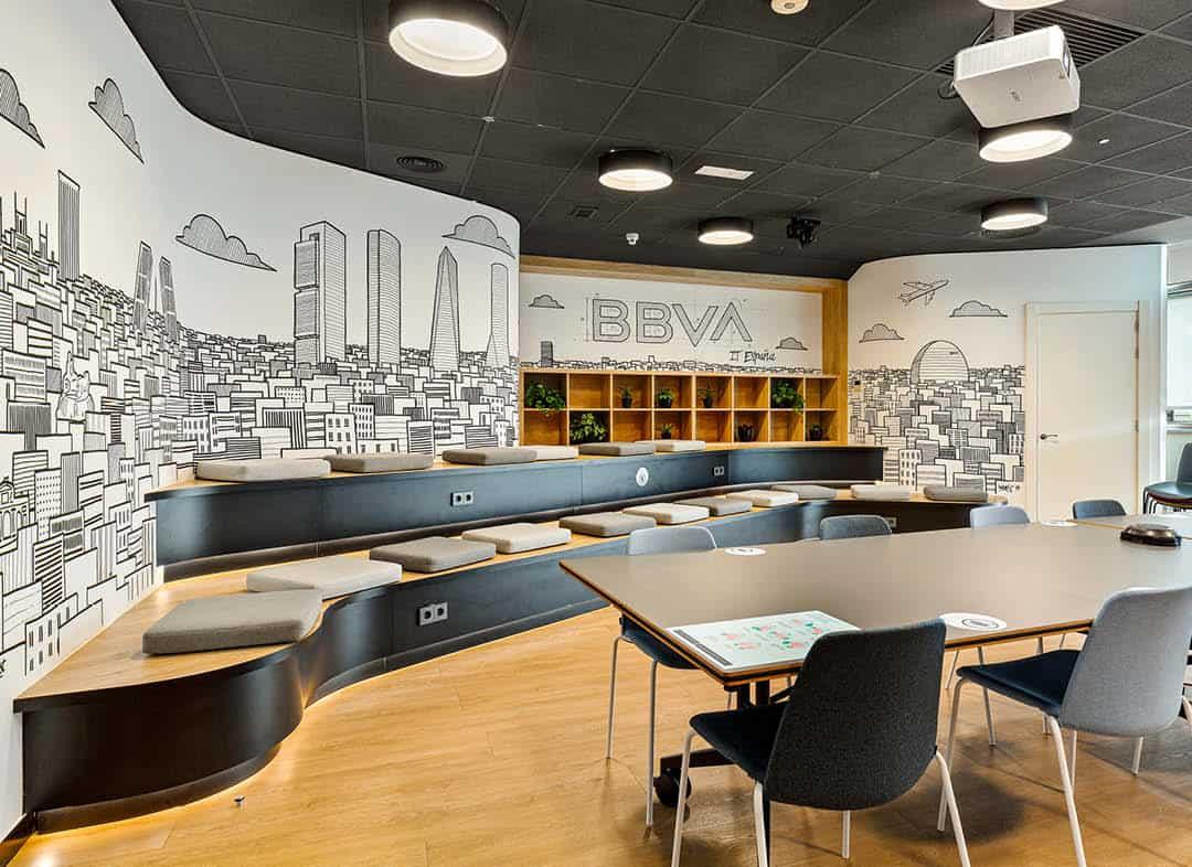 BBVA IT España ágora para reuniones en la oficina